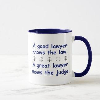 Caneca Bom/grande advogado