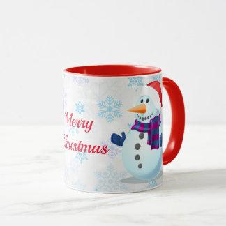 Caneca Boneco de neve com um desejo do Natal