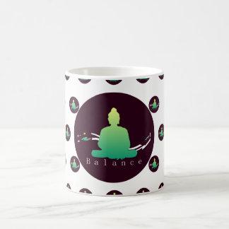 """Caneca bonita de Buddha do """"equilíbrio"""""""