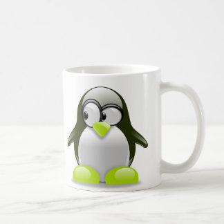 Caneca bonita dos pinguins