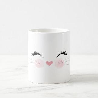 Caneca bonito da cara do gato