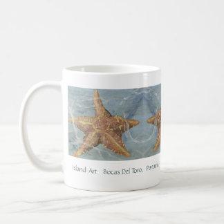 Caneca bonito da estrela do mar da arte da ilha -