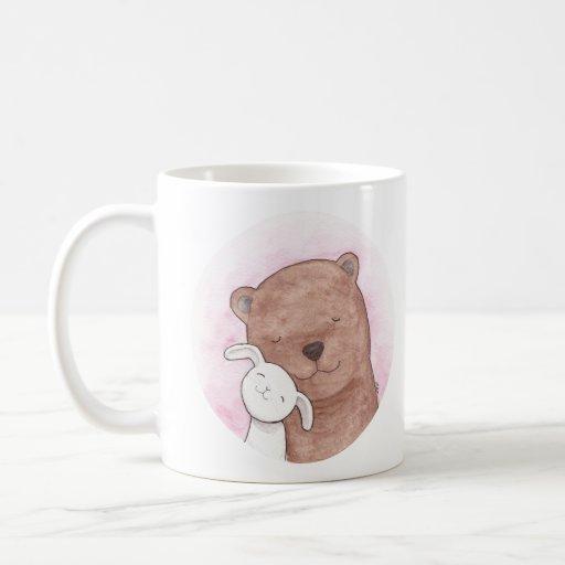 Caneca bonito do animal da caneca do urso & do cas