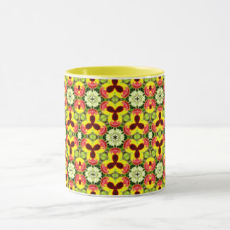 Caneca ~ bonito do Fractal dos Pansies do ~