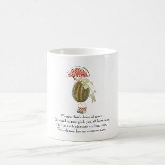 Caneca bonito do miúdo da melancia da rima da