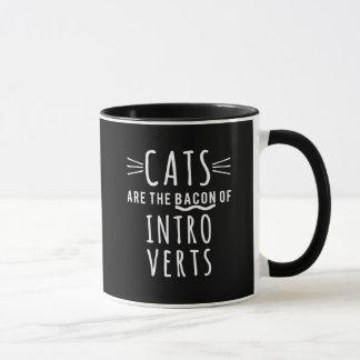 Caneca Bonito e engraçado! Os gatos são o bacon