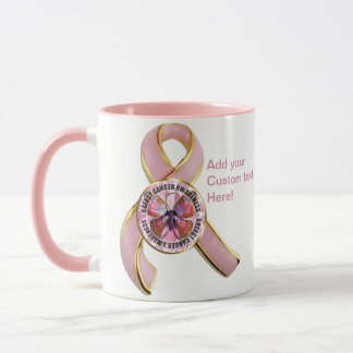 Caneca Borboleta da consciência do cancro da mama