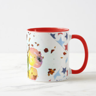 Caneca Borboleta estrelado, café vermelho da campainha