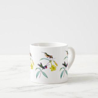 Caneca botânica do café do Wildflower dos colibris