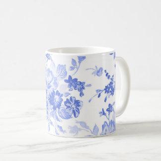 caneca branca azul da porcelana de delft do país