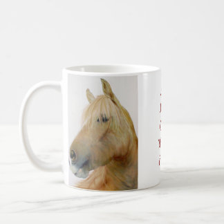 caneca branca clássica do cavalo do fineart