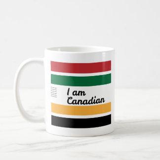 Caneca branca clássica geral canadense tradicional
