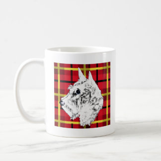 Caneca De Café Caneca branca de Terrier do Scottish