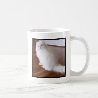 Caneca branca do gato persa