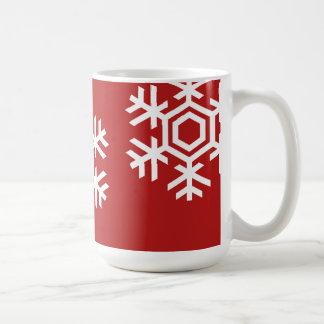 Caneca branca do Natal do floco de neve