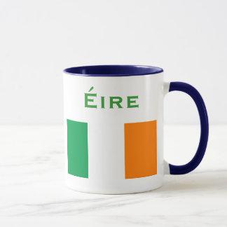 Caneca Brasão de Ireland e bandeira Mug*