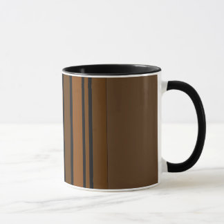 Caneca Brown/caneca listras verticais do preto