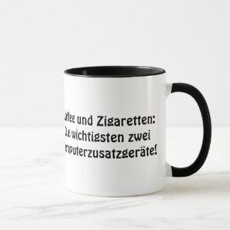 """Caneca """"café e cigarros: Importante dois…."""