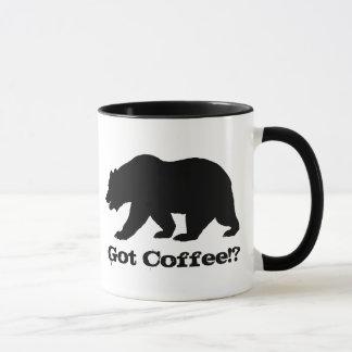 Caneca Café obtido!? Edição do urso de Califórnia