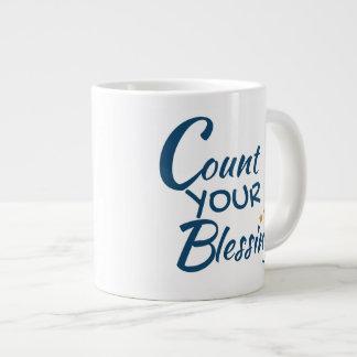 Caneca - café ou chá - conte suas bênçãos