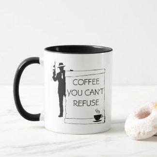 Caneca Café você não pode recusar customizável engraçado
