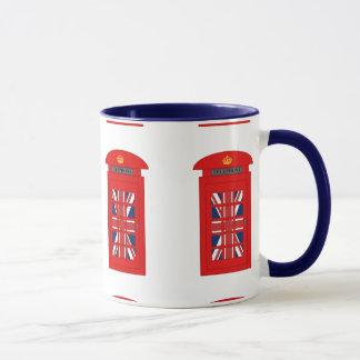 Caneca Caixa de telefone britânica
