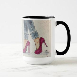 Caneca Calçados & café da aguarela