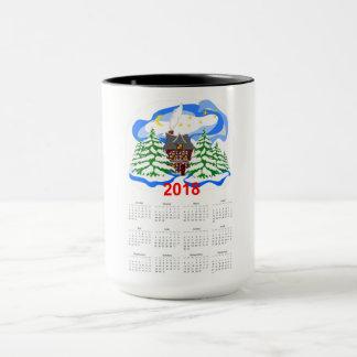 Caneca Calendário de cumprimento do ano novo 2018