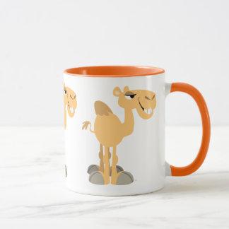Caneca Camelo de sorriso bonito dos desenhos animados