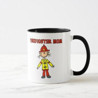 Caneca Camiseta e presentes da mamã do sapador-bombeiro