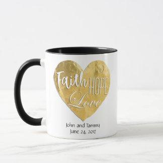 Caneca Campainha Wedding personalizada amor da esperança