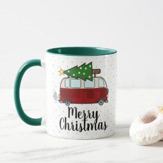 Caneca Campista do Feliz Natal que transporta a árvore