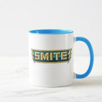 Caneca Campo de batalha do logotipo do SMITE dos deuses