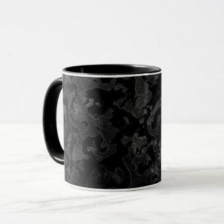 Caneca Camuflagem cinzenta preta e escura de Camo moderno
