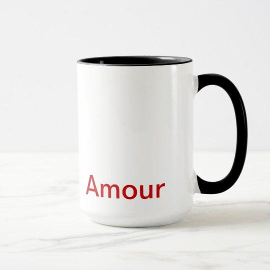 """Caneca caneca, """"Amour"""", Art"""