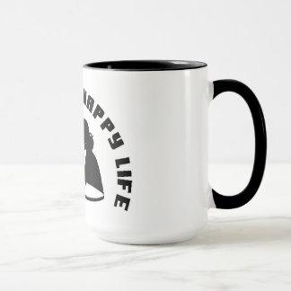 """Caneca """"Caneca de café feliz da vida da esposa feliz """""""