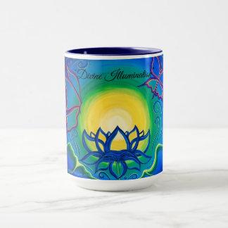 """Caneca """"Caneca de café original da arte da iluminação"""