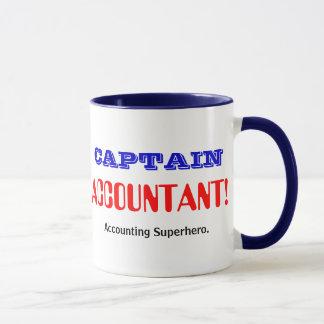 Caneca Capitão Contador Contabilidade Super-herói
