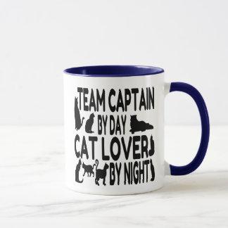 Caneca Capitão da equipe do amante do gato