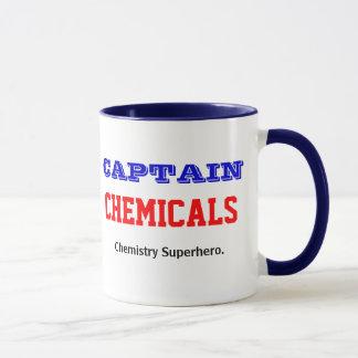 Caneca Capitão Produto químico Química Super-herói