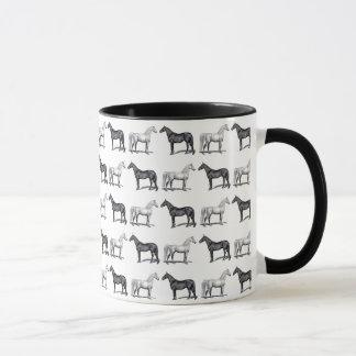 Caneca Cavalo branco/cavalo preto