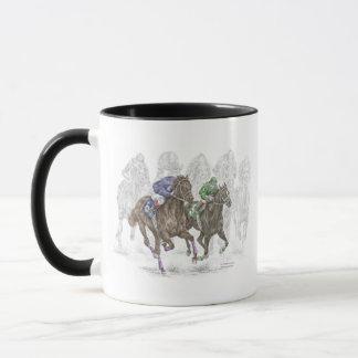 Caneca Cavalos de raça de galope