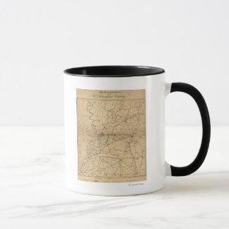 Caneca Cerco de Vicksburg - mapa panorâmico 2 da guerra