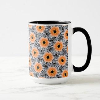 Caneca Chávena MUG Jimette Desenho cor de laranja branco