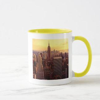 Caneca Cidade da skyline de New York com estado do