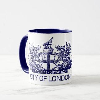 Caneca Cidade de Londres, vintage, brasão, Inglaterra