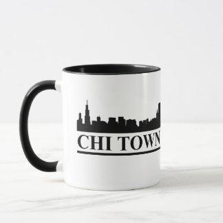 Caneca Cidade do qui da skyline de Chicago