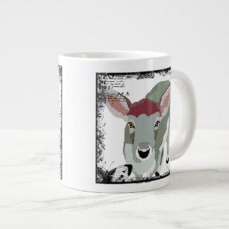 Caneca cinzenta da jovem corça do vintage jumbo mug