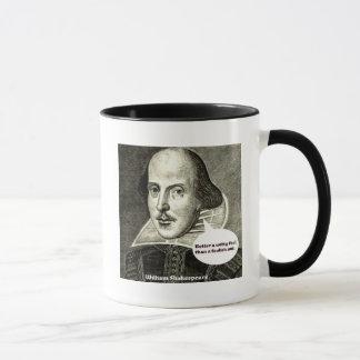 Caneca Citações de Shakespeare; Melhore um tolo