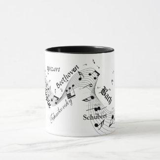 caneca clássica dos compositores